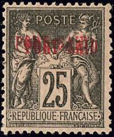 Double Surcharge. No 11a, Forte Charnière Mais TB