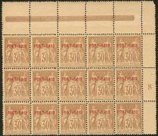 Emission Provisoire Locale Vendue Du 17 Au 24 Novembre 1899 (cote Yv. Spé 2013). No 11A (brun), Bloc De 15 Ex Cdf