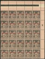 Emission Provisoire Locale Vendue Du 17 Au 24 Novembre 1899 (cote Yv. Spé 2013). No 10A (noir Sur Rose), Bloc De