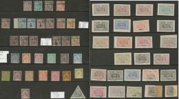 Collection. 1892-1894 (Poste), Valeurs Moyennes Et Séries Complètes Entre Les N°12 Et 59, Qqs Obl. - T