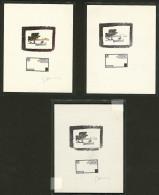 Epreuves D'atelier Type Palétuvier. No 139, Fond Et Cadre Séparés, Sans Faciale, Dont 2 Sign&eacute