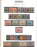 MEMEL. Collection. 1920-1922 (Poste, PA), Complète Sauf PA 1, 7 Et 14, Nombreux Doubles Obl. - TB