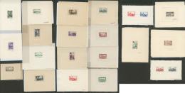 Lot. Epreuves D'artiste. 1934-1950 (Poste, PA), Types, Couleurs, Valeurs Et Formats Divers. - TB