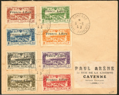 Poste Aérienne. Non émis Surchargés France-Libre. Nos 11 à 18 (Maury 29A à 29H), Obl