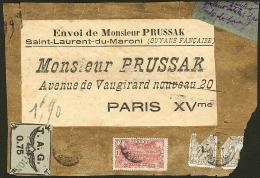 Poste Aérienne. TAG. No 4A + Divers Poste, Sur étiquette De Paquet Prussak. - TB