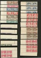 Nos 137 à 142, Tous En Bloc De Quatre Cd 8 Et 9.35, 143 à 148, 15 Bloc De Quatre Dates Diverses 5 Et 6.37.