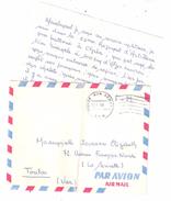 Guerre D'Algérie, Lettre FM Poste Aux Armées A.F.N., 18.7. 1960 ( CHREA , 65 E Régiment D'Artillerie 3e B ) > Toulon, TB - Storia Postale
