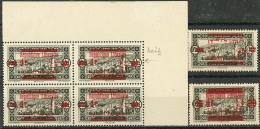 """Variétés. No 119, Six Dont Bloc De Quatre Cdf (dont Un Ex Avec """"Libanais""""), 119a, 119c. - TB"""
