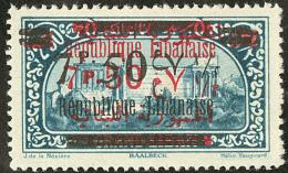 Double Surcharge Française R + N. No 107d, Point De Rousseur Au Verso Sinon TB