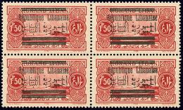 Double Surcharge Arabe. No 101c, Bloc De Quatre. - TB (cote Maury N°100a)