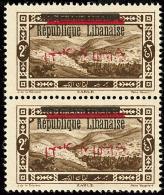 Surcharge Arabe Renversée. No 102, Paire Verticale. - TB (cote Maury N°101a)