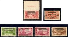 """Variétés. Nos 99d, 100* (""""Repu Libanaise""""), 100d Double Barre, 101 Surch. Arabe Renv. Avec Double Barre, 1"""