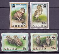 1994 Aruba WWF, Owl, Bird, Fauna (4v) MNH (M-147)