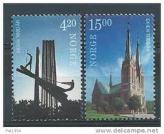 Norvège 2000 N°1312/1313 Neufs** Millénaire De Skien - Unused Stamps