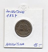 Argentina - 1897 - 20 Centavos - (FDC4479) - Argentina