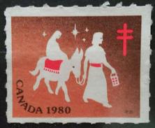 CANADA 1980 Viñeta Navidad - Cruz De Lorena. USADO - USED. - 1952-.... Reinado De Elizabeth II