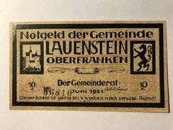 Allemagne Notgeld Lauenstein 10 Pfennig - [ 3] 1918-1933 : République De Weimar