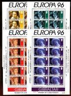 GIBRALTAR Mi.Nr. 755-758 EUROPA CEPT Berühmte Frauen - Kleinbogen - 1996 - MNH - Europa-CEPT