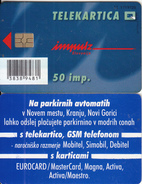 SLOVENIA(chip) - Na Parkirnih Avtomatih V Novi Gorici, Impulz Telecard 50 Units, Tirage 10000, 08/02, Used