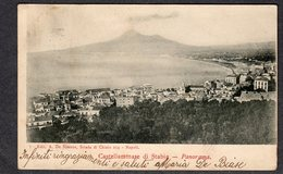 1918 CASTELLAMMARE DI STABIA PANORAMA FP V  SEE 2 SCANS TIMBRO TONDO RIQUADRATO - Castellammare Di Stabia
