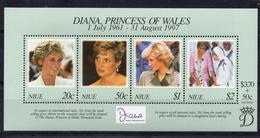 NIUE/1997/MNH/SC#706/DIANA PRINCESS OF WALES (1961-97) - Niue