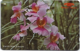Singapore - Vanda Miss Joaquim, Orchids, 11SIGA, 1991, 840.000ex, Used - Singapur