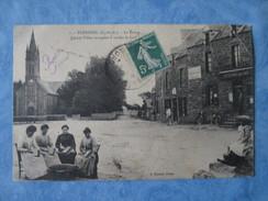 RARE CPA CP Cpsm 22 PLEHEREL 1910 BOURG ED ROUXEL Dinan FILLES Cardant La Laine GP ANIME Dt Café Restaurant Jules Coupé - Francia
