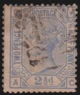Great  Britain    .   Yvert  57  Pl 18    1875      .    O      .   Gebruikt    .     /    .     Cancelled - 1840-1901 (Victoria)