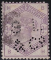 Great  Britain    .   Yvert   80  Perf         .    O      .   Gebruikt    .     /    .     Cancelled - 1840-1901 (Victoria)