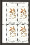 003742 Canada 1971 Maple Leaves 7c Plate Block UL MNH - Plate Number & Inscriptions