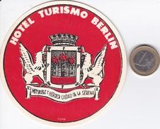 ETIQUETA DEL HOTEL TURISMO DE BERLIN EN ARGENTINA - Etiketten Van Hotels