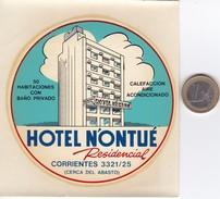 ETIQUETA DEL HOTEL NONTUE DE CORRIENTES EN ARGENTINA - Etiketten Van Hotels