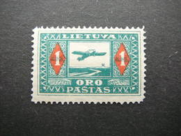 Lietuva Lithuania Litauen Lituanie Litouwen # 1921 MH # Mi. 106 Planes. Airmail - Lituanie