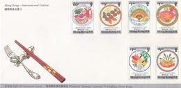 HONG KONG -  COVER 1990 - INTERNATIONAL CUISINE - Mi 585-590 /1 - Hong Kong (1997-...)