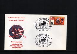 Deutschland / Germany 1974 World Football Champioship Germany  Press Center Hannover - Coppa Del Mondo