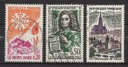 FRANCE 1961 - LOT Y.T. N° 1306 / 1307 / 1308 - OBLITERES / K141 - Francia