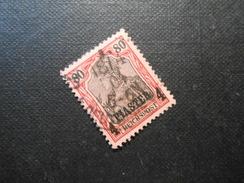 D.R.19 L  4PIA Auf 80Pf   Deutsche Auslandspostämter ( Türkei ) 1900 - Mi € 17,00 - Offices: Turkish Empire