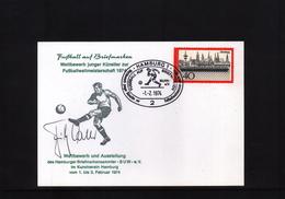 Deutschland / Germany 1974 Fussball Weltmeisterschaft  Postkarte Mit Original Autogramm Fritz Walter - World Cup