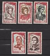 FRANCE 1961 - SERIE Y.T. N° 1301 A 1305 - OBLITERES / K142 - France