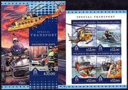 Solomon Islands - 2016 - Special Transport/Rescue - M/S+S/S - MNH - (R09) - Trains