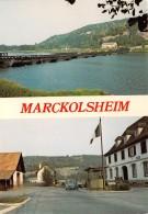 MARCKOLSHEIM Le Pont De Bateaux Sur Le Rhin Le Poste Des Douanes Francaises 9(scan Recto-verso) MA1885 - France