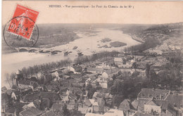 Carte Postale Ancienne De La Nièvre - Nevers - Vue Panoramique - Le Pont Du Chemin De Fer - N°3 - Nevers