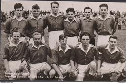 Oude Chromo FC Turnhout 1951-1952 (9 X 13.8 Cm) Voetbal Football Team Ploegfoto Equipe Club Belge - Voetbal