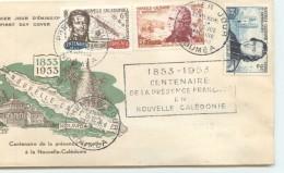 1953  Centenaire De La Présence Française En Nvlle Calédonie Yv 280-2 - FDC