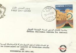 1968  Inauguration Du Terminal Pétrolier De Zueitina  FDC - Libye
