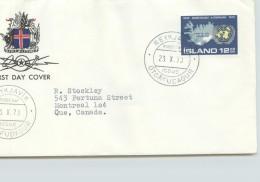 1970  25è Ann. Des Nations Unies Carte D'Islande, Emblème Des Nations Unies - FDC