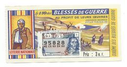 BILLET LOTERIE NATIONALE 1961 : Blessés De Guerre, Timbre Pierre Corneille., TR 16 GR 4 - Billets De Loterie