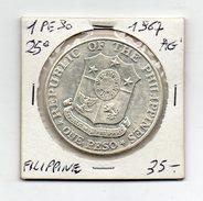 Filippine - 1967 - 1 Peso - 25° Anniversario Bataan Day - Argento - (FDC4488) - Filippine