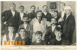 Les 13 Rescapés De La Castastrophe De Courriéres Après 20 Jours Dans La Mine - Nény - Docteur Lourtier - Pavost  - 62 Pa