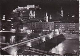AK Salzburg - Die Festspielstadt Bei Nacht - 1955 (28610) - Salzburg Stadt